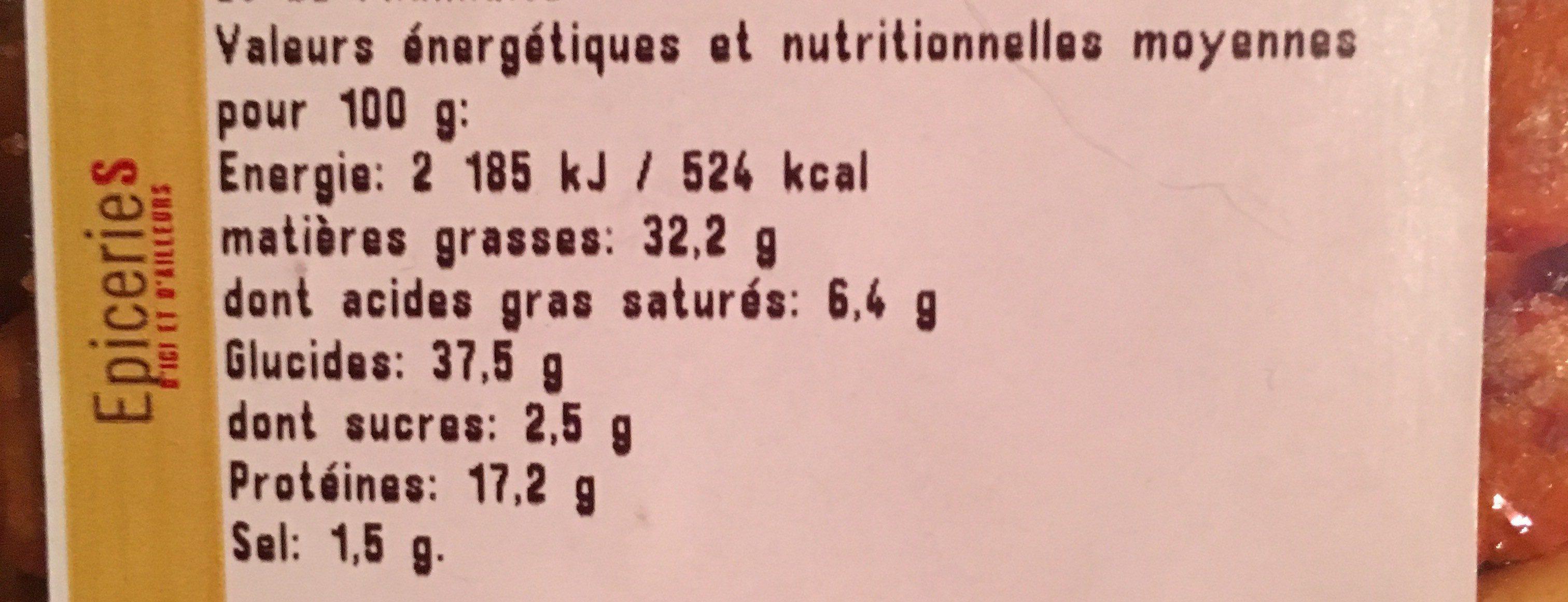 Mélange mexicain - Informations nutritionnelles - fr