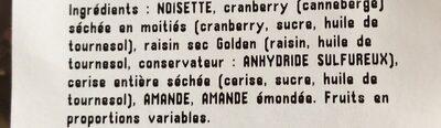 Melange Canada - Ingrédients - fr