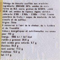 Mélange Tokyo - Informations nutritionnelles - fr