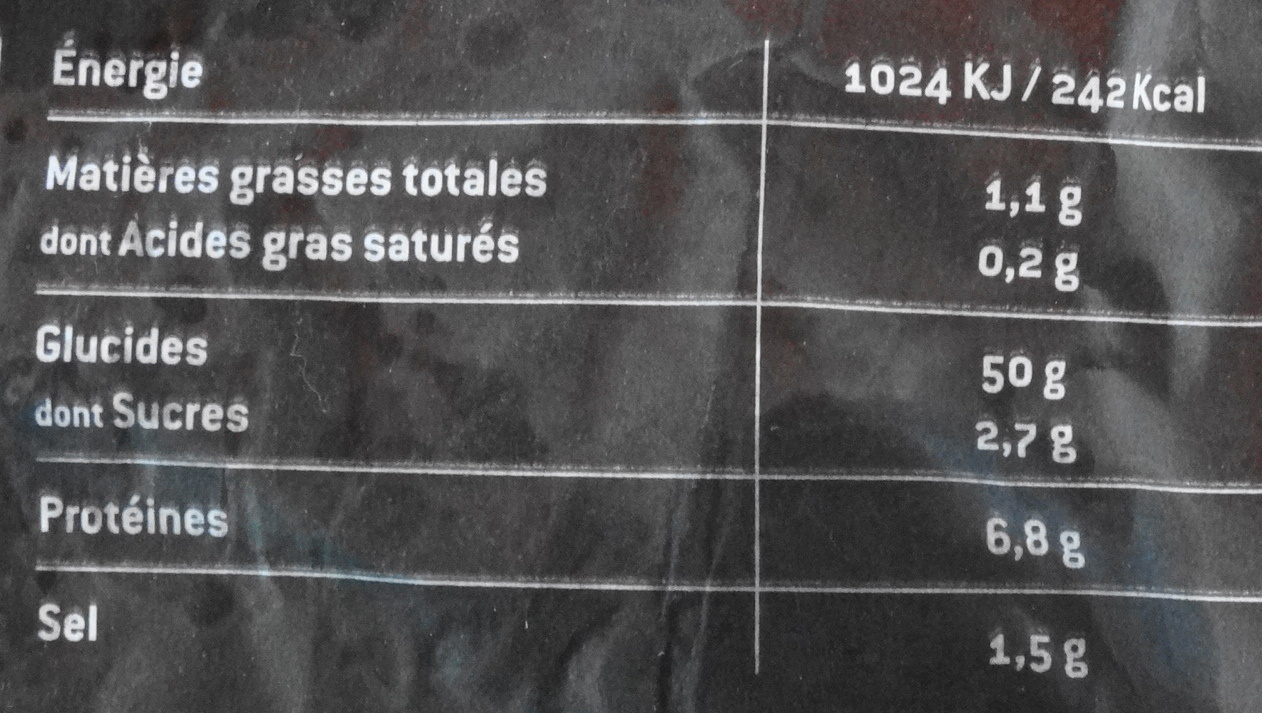 Pérènes Complet - Valori nutrizionali - fr