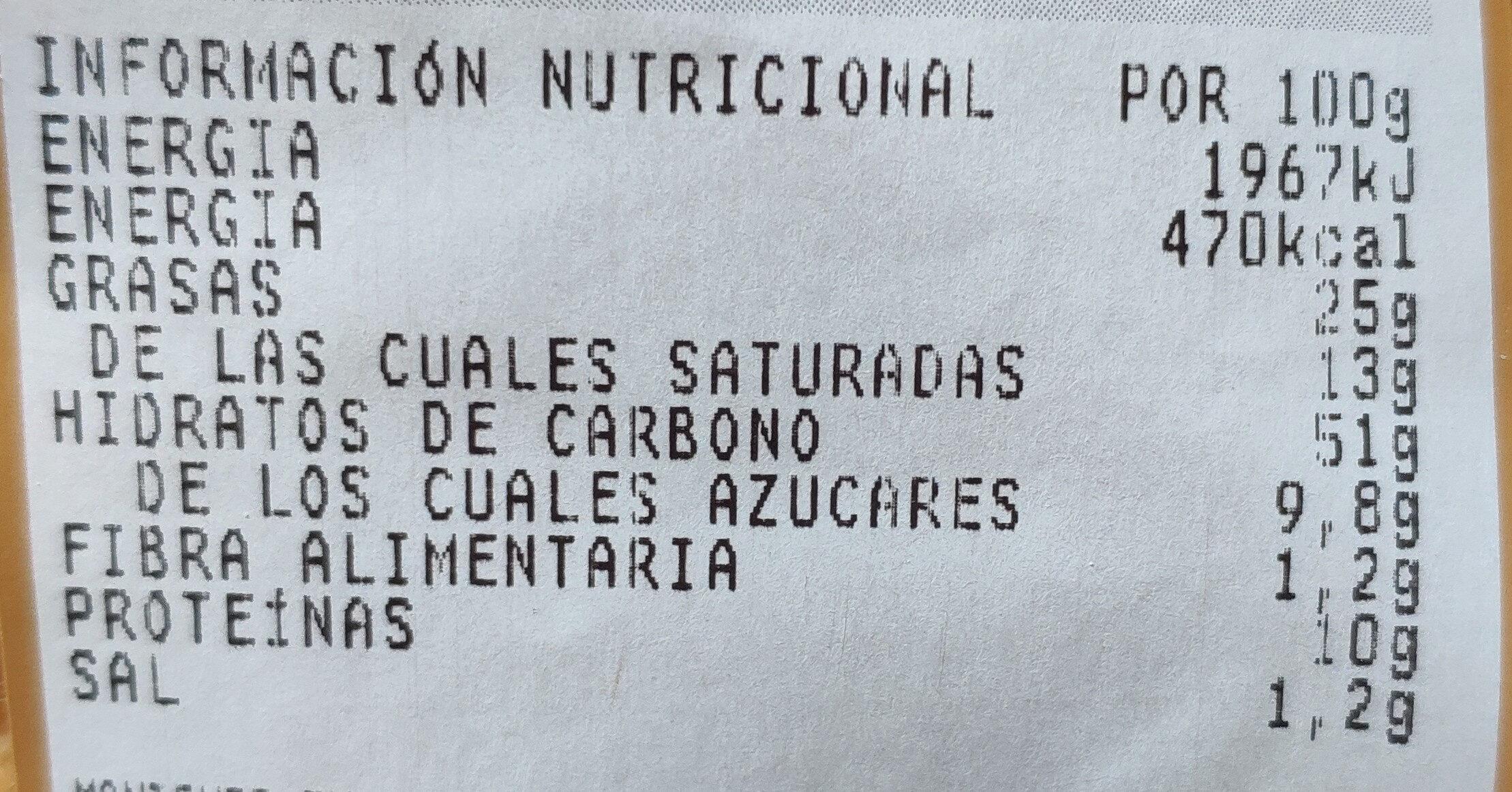 Mini croissant margarina - Informations nutritionnelles - es