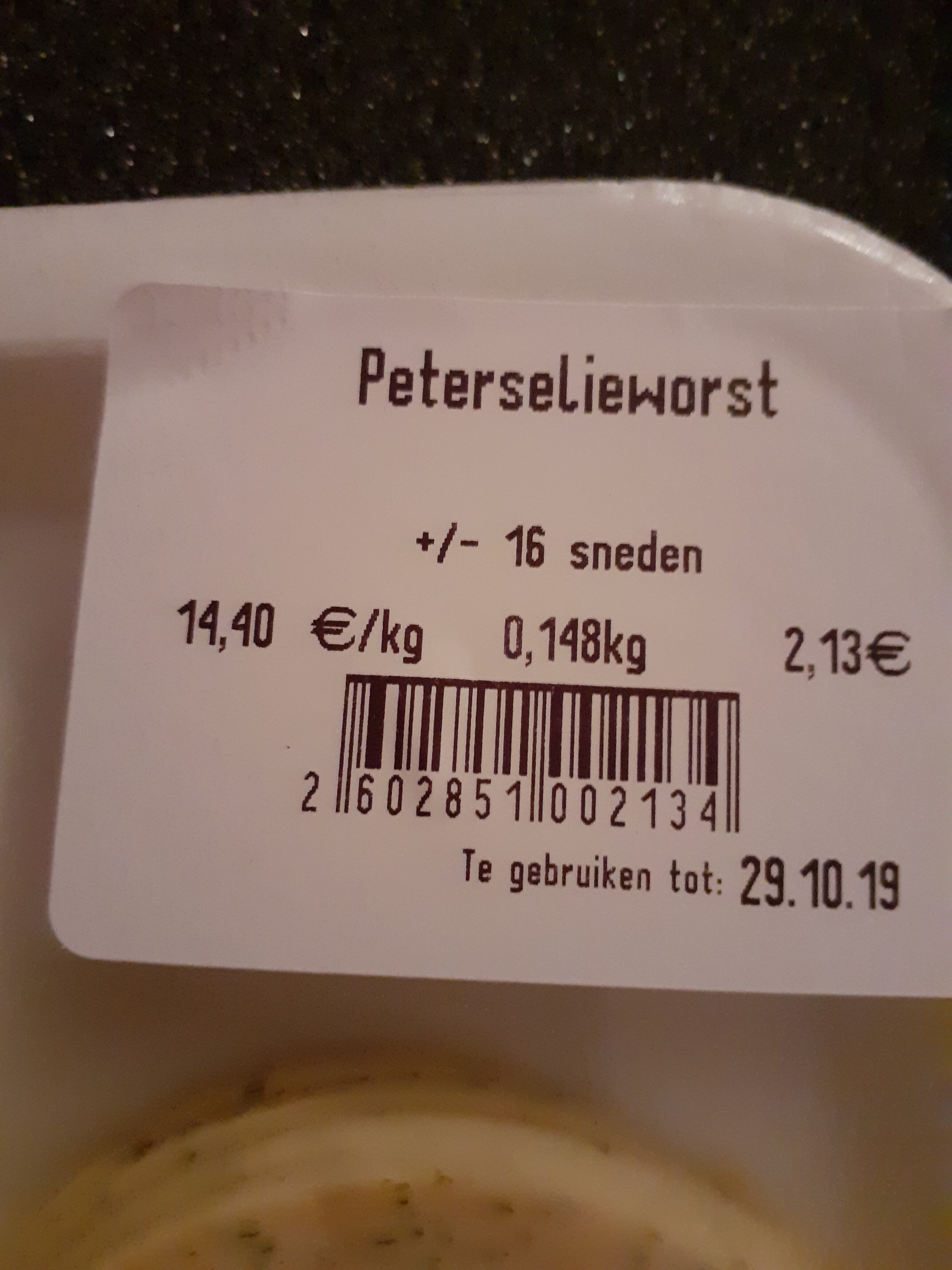 peterselieworst - Product