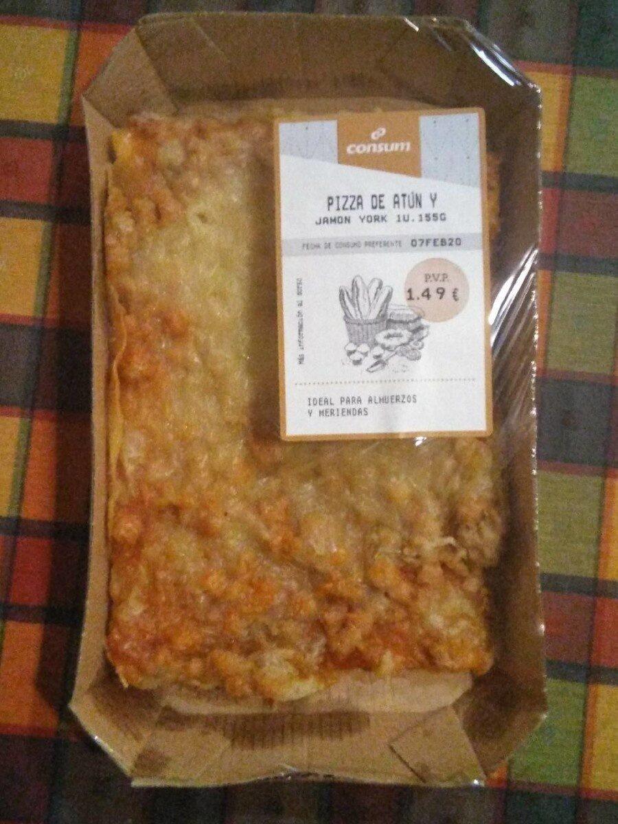 Pizza de atún y jamon york - Producto - es