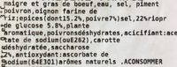 Préparation Bouchère Viande Limousine - Ingredients