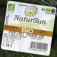 """Pepinos ecológicos """"NaturSun"""" - Ingredientes"""