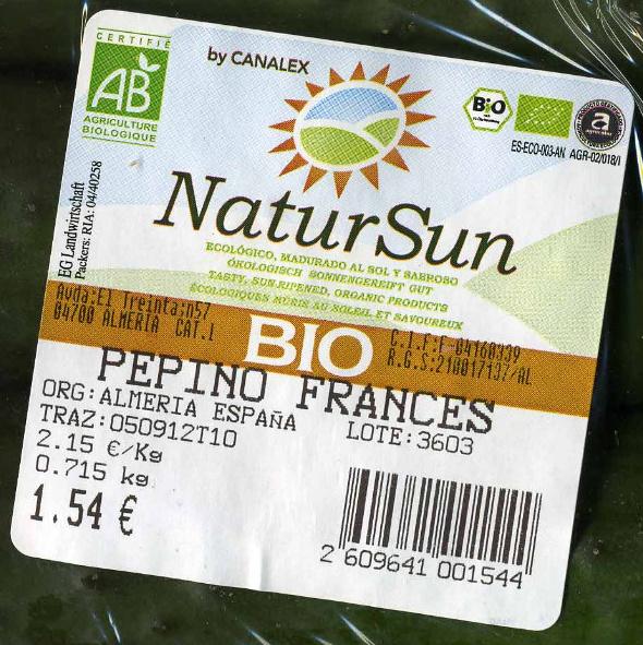 Pepinos ecológicos - Ingredientes - es