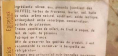 Olives provençales - Ingrédients - fr