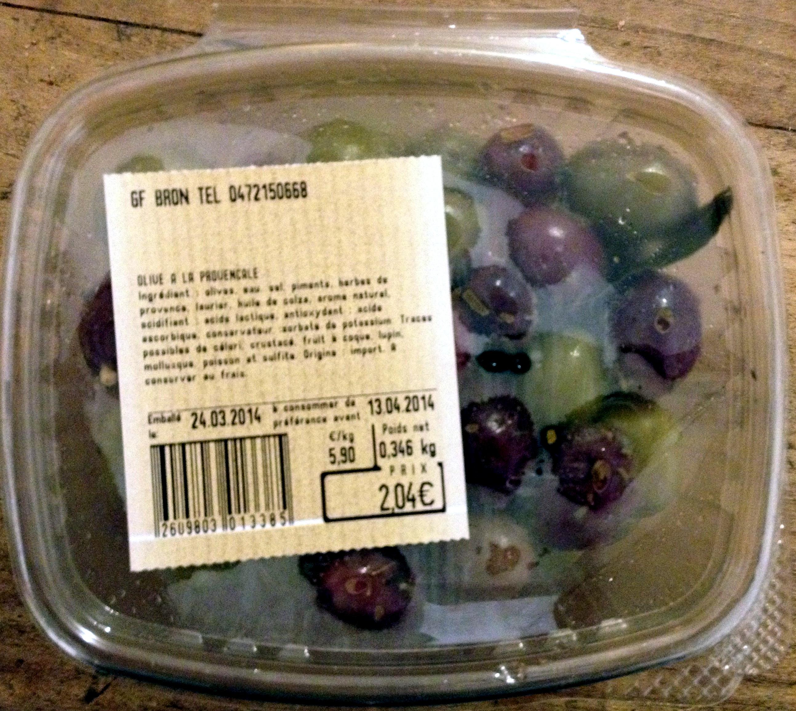 Olives cuisinées a la provencal - Product - fr