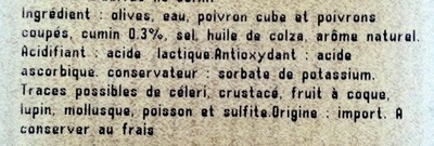 Cocktail d'olives au cumin - Ingredients - fr