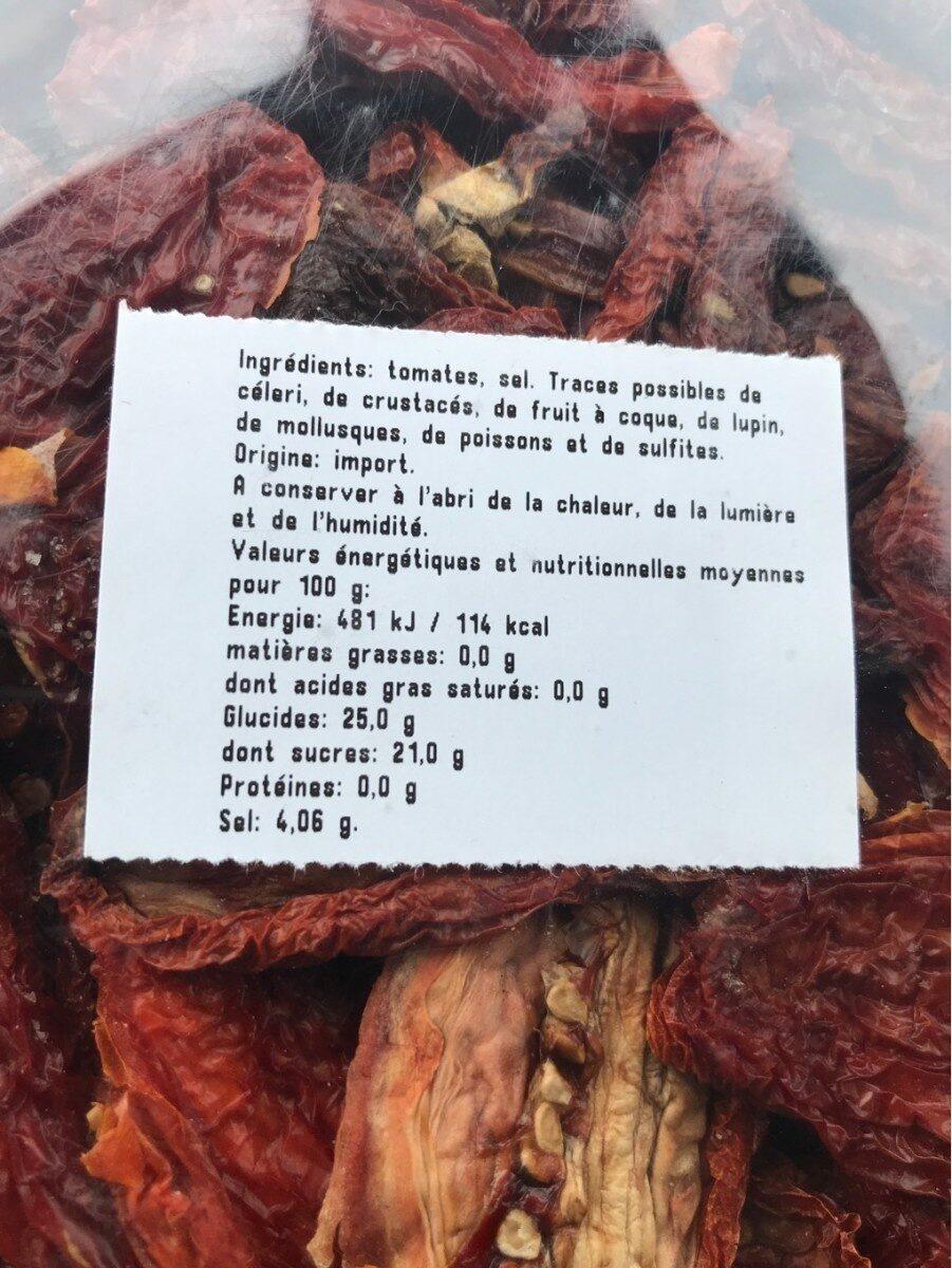 Tomate sechee - Valori nutrizionali - fr