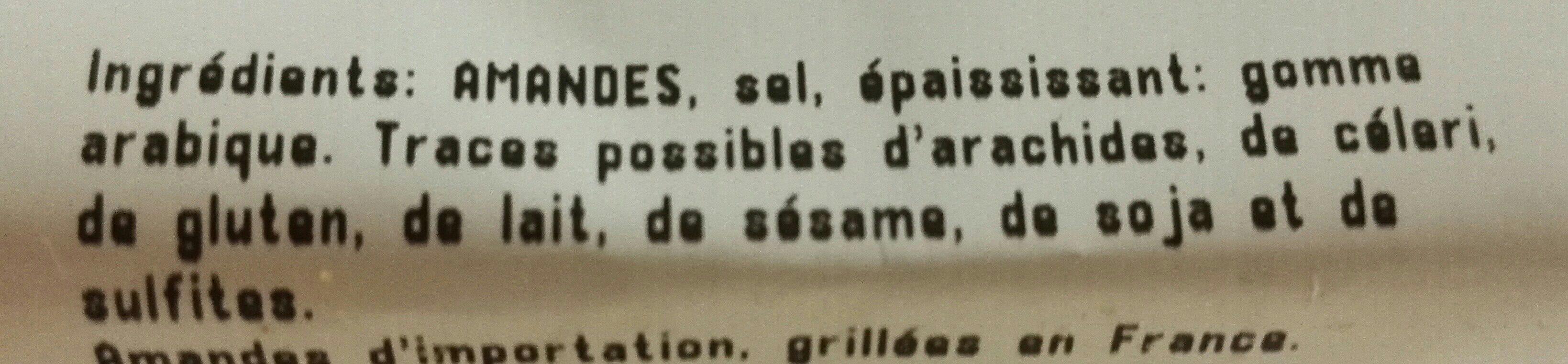 Amandes Grillées à sec et Salées - Ingrédients - fr