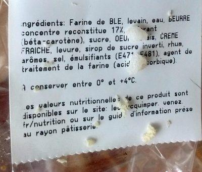 Brioche Beurre Eleclerc Calories Et Informations