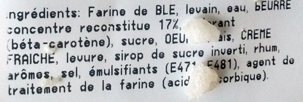 Brioche beurre - Ingrédients - fr