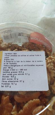 Cernaux de noix - Ingrédients - fr