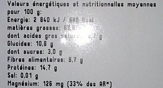 Cerneaux de Noix - Voedingswaarden - fr