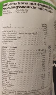 Mélange pour boisson protéinée - Informazioni nutrizionali - fr