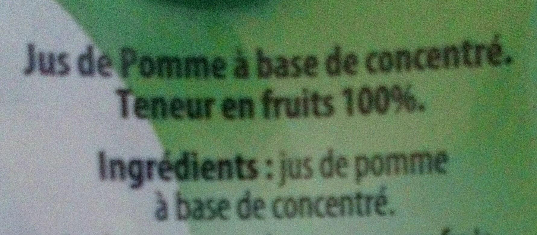 Jus de pomme à base de concentré - Ingredients - fr