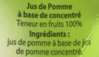 Jus de Pomme à base de concentré - Ingrediënten