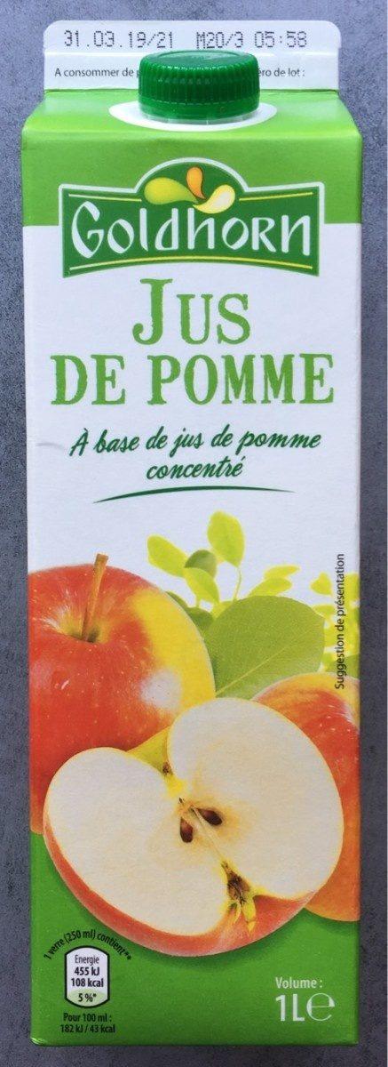 Jus de pomme à base de jus de pomme concentré - Produit - fr