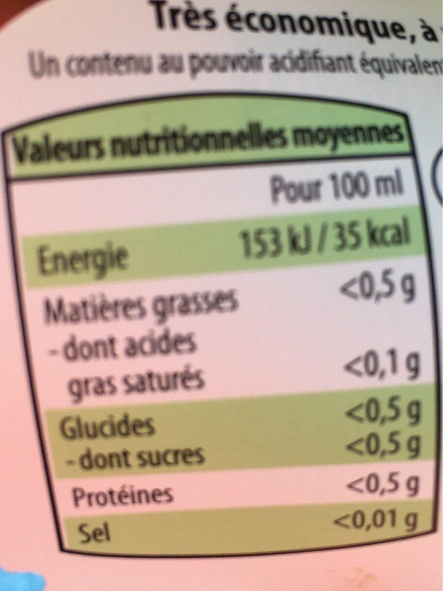 Citron vert - Nutrition facts - fr