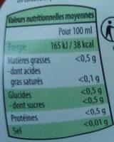 Citron - Nutrition facts - fr