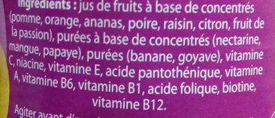 Jus de pomme à base de concentré - Ingrédients - fr