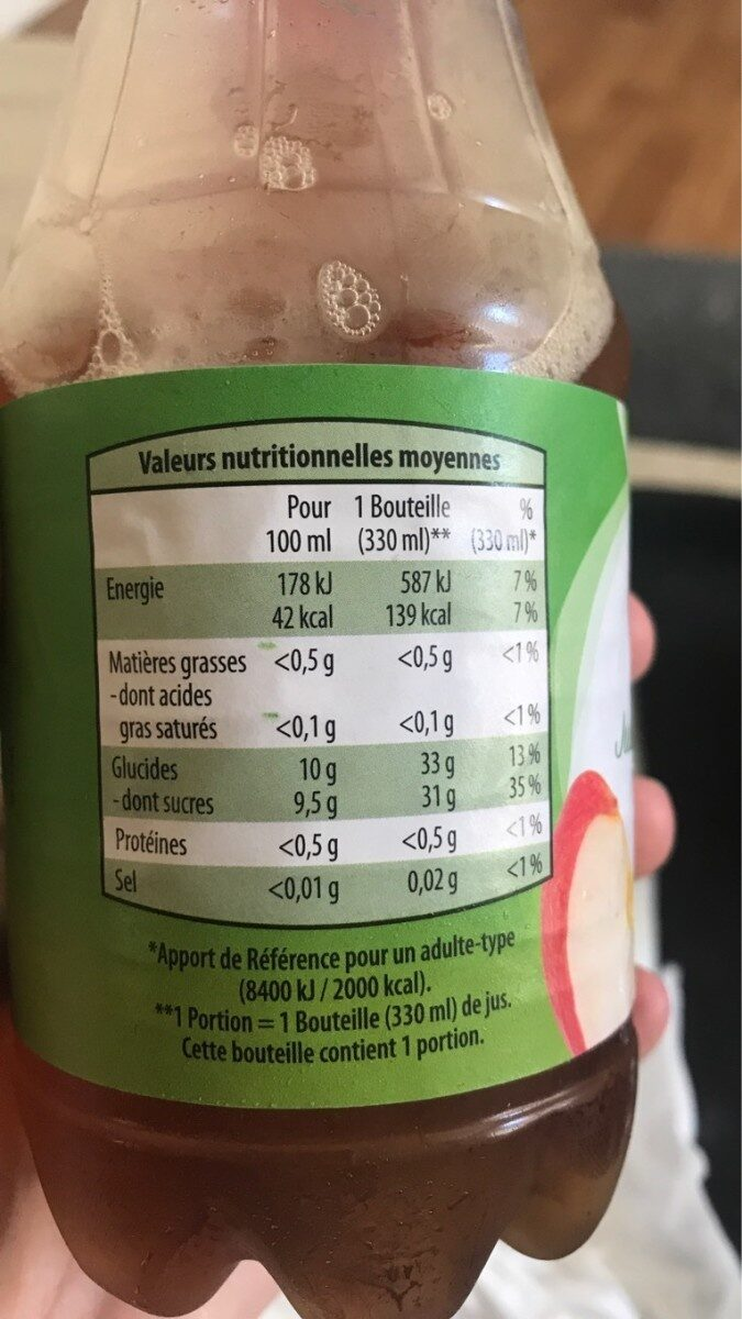 Jus de pomme à base de concentré - Informations nutritionnelles - fr