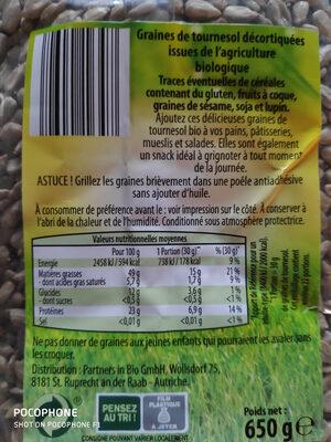 Graines de tournesol décortiquées - Produkt