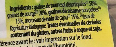 Graines de tournesol décortiquées - Inhaltsstoffe