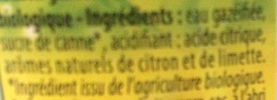 Limonade Artisanale Bio - Ingredients