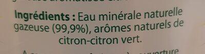 Faustine saveur citron - Ingrédients