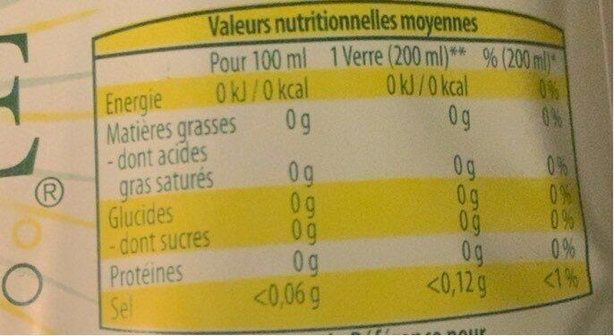 Faustine saveur citron - Informations nutritionnelles - fr
