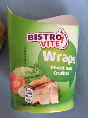 Wraps poulet crudites - Produit - fr