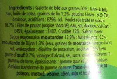 Wraps poulet crudites - Ingrédients - fr