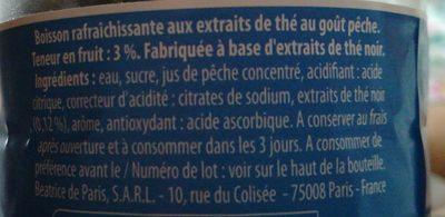 Thé glacé - Ingrediënten - fr