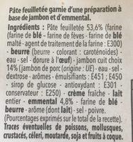 2 feuilletés épinards chèvre - Ingrédients - fr