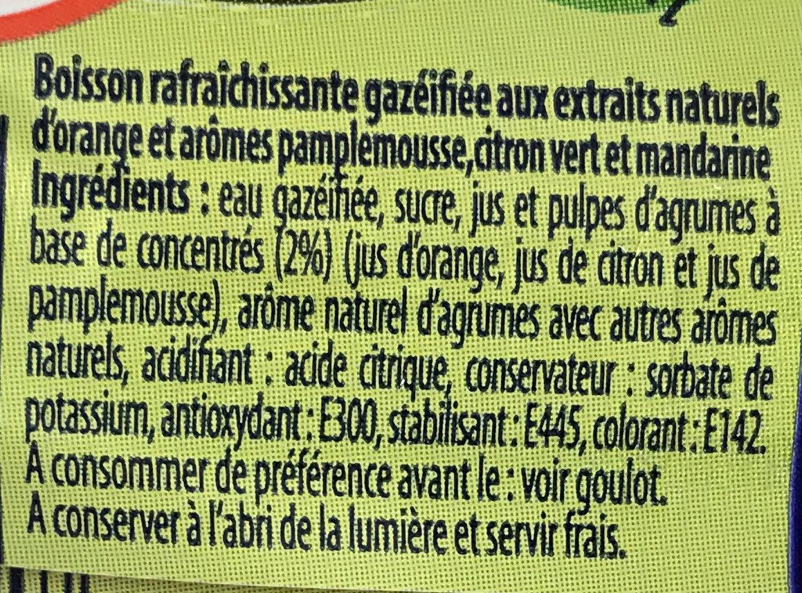 soda saveur agrumes - Ingrédients