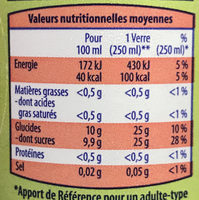 soda saveur agrumes - Informations nutritionnelles