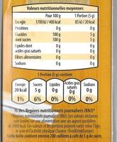 Cassonade Sucre roux en poudre - Nutrition facts