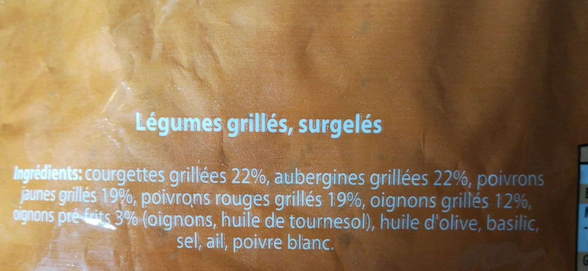 Légumes grillés à la méditerranéenne - Ingrédients - fr