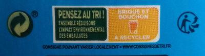 Lait demi écrémé - Istruzioni per il riciclaggio e/o informazioni sull'imballaggio - fr