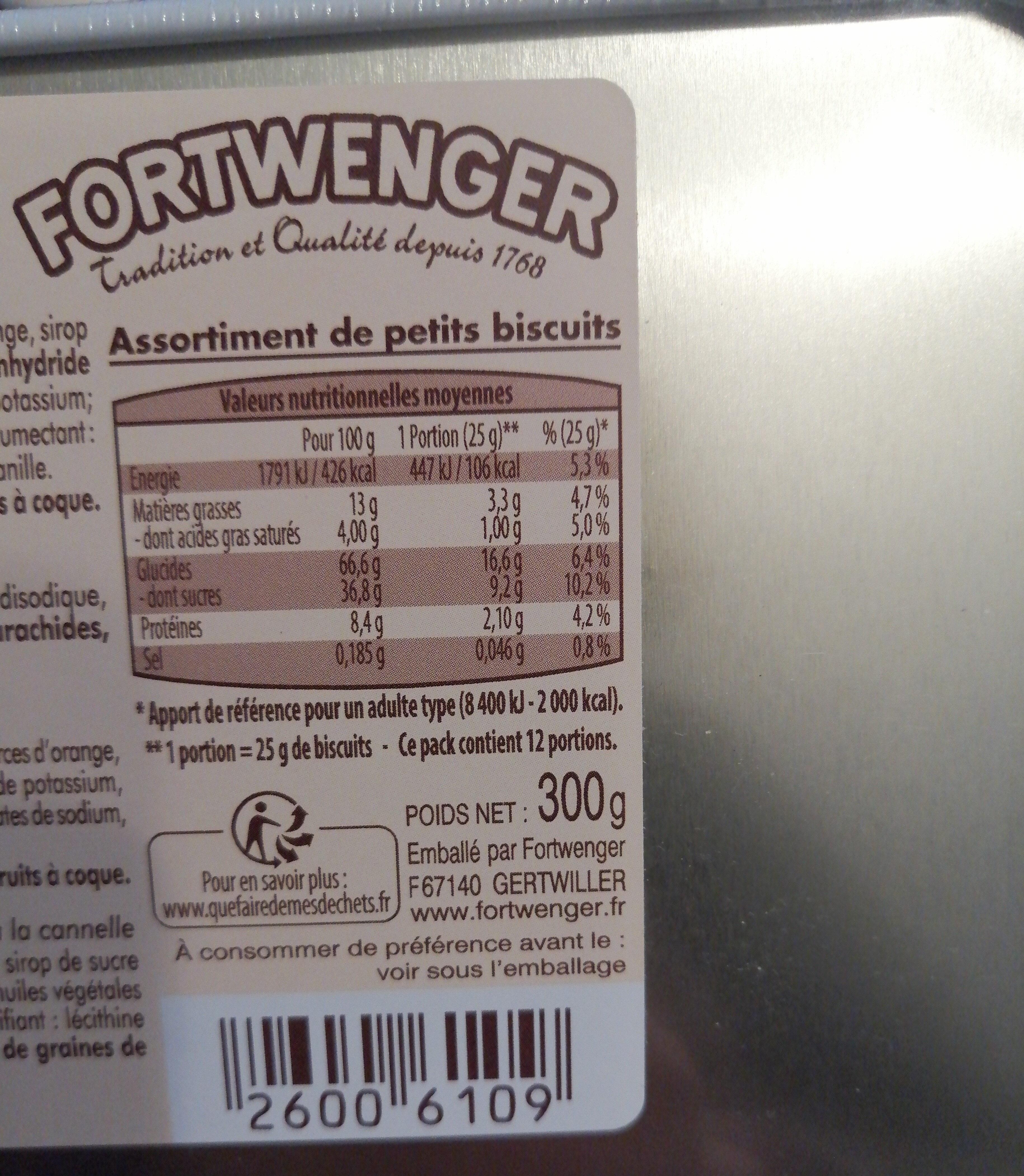 Assortiment de petits biscuits - Valori nutrizionali - fr