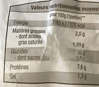 3 Faluches - Informations nutritionnelles - fr