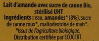 Boisson à l'amande - Ingrédients - fr