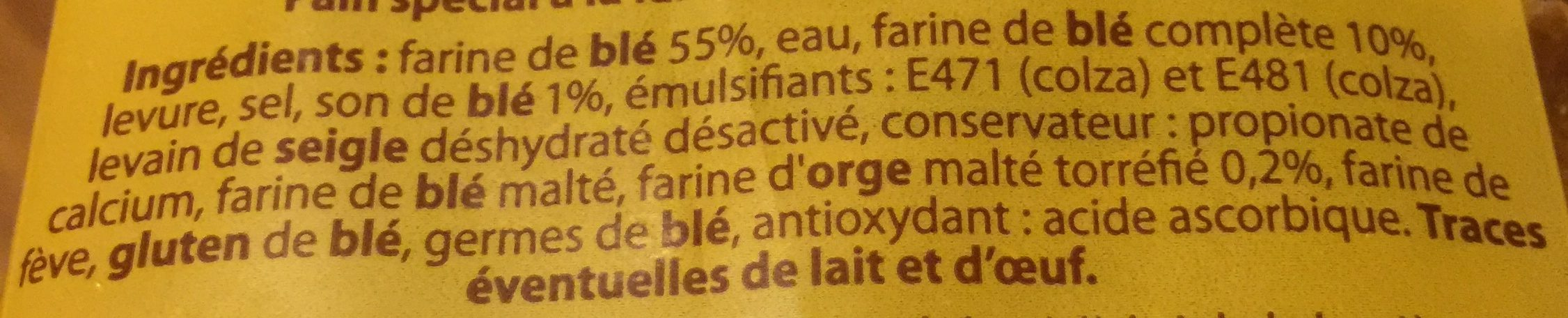 Pain Spécial Multicéréales - Ingrediënten - fr