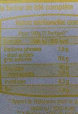 Pain Spécial Multicéréales - Voedingswaarden - fr