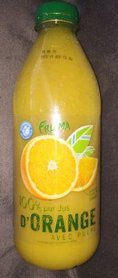 100% pur jus d'Orange avec pulpe - Product - fr
