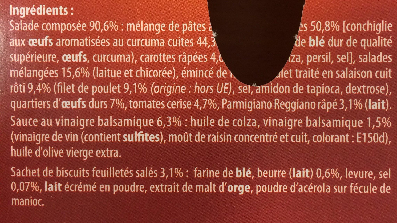 Salade repas poulet rôti Parmesan Crudités - Ingrédients - fr