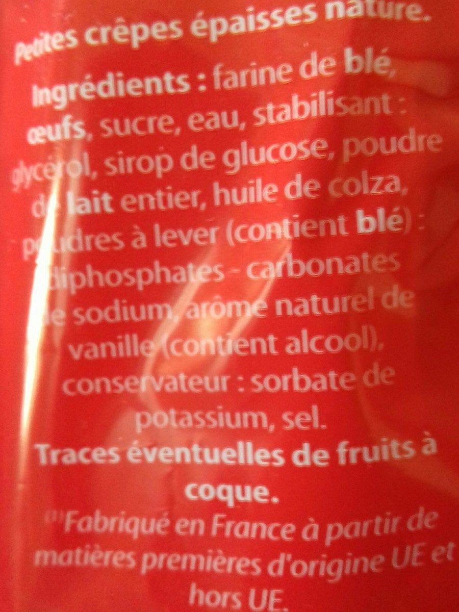 pancakes nature 9x40g - Ingrédients - fr