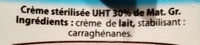 Creme liquide 30% - Ingredients - fr
